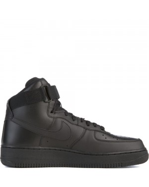 315121-032 Heren Nike Air Force 1 High '07 - Zwart/Zwart