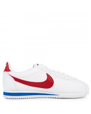 807471-103 Dames Classic Cortez Leather - Wit/Rood-Varsity Royal