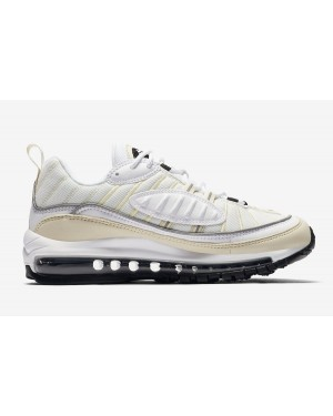 Dames Nike Air Max 98 Wit/Zwart-Fossil AH6799-102