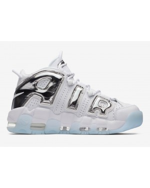 Nike Air More Uptempo Chrome Wit/Chrome-Blauw Tint Dames | 917593-100