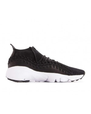 AO5417-001 Nike Air Footscape Woven NM Flyknit Schoenen - Zwart/Zwart-Wit