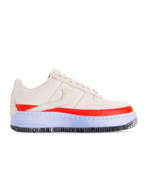 AT2497-002 Nike Dames Air Force 1 Jester XX SE - Light Bone/Light Bone-Oranje