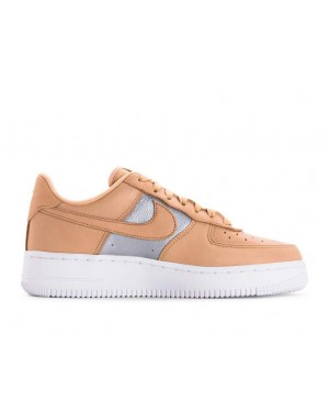 AH6827-200 Nike Dames Air Force 1 '07 SE Premium - Beige/Metallic Silver/Wit