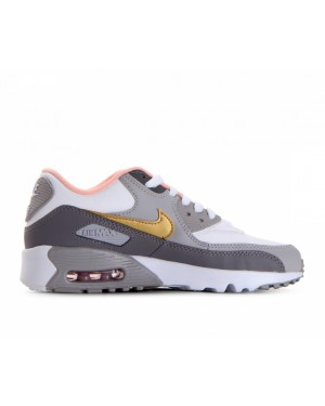 833376-011 Nike Air Max 90 Leather GS - Gunsmoke/Metallic Goud/Grijs